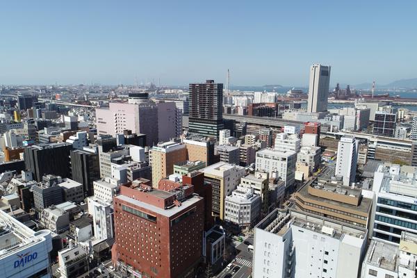 北九州でのドローン空撮